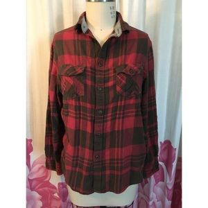 Mossimo men's/unisex red black flannel shirt